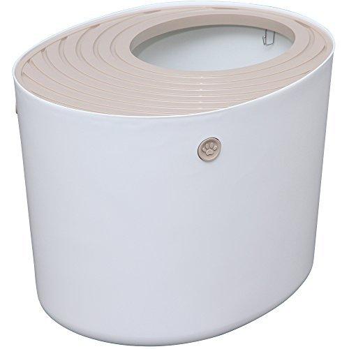 アイリスオーヤマ 上から猫トイレ ホワイト PUNT-530の画像