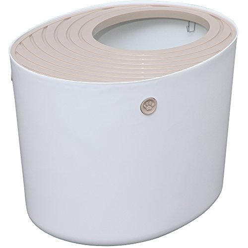 アイリスオーヤマ 上から猫トイレ ホワイト PUNT-530 1枚目