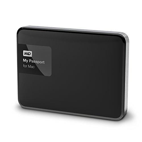 WD HDD ポータブルハードディスク 1TB My Passport for Mac WDBJBS0010BSL-PESN USB3.0の画像