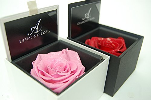 AMOROSA プリザーブドフラワー ダイアモンドローズ ピンクの画像