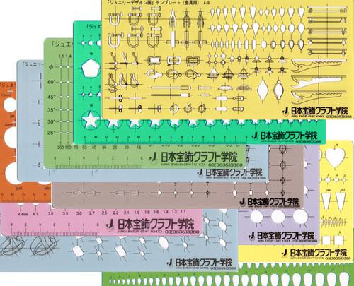 日本宝飾クラフト学院 ジュエリーデザインンテンプレートの画像