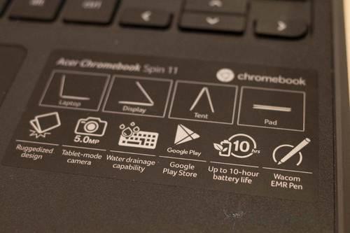 エイサー Chromebook Spin 11 2枚目