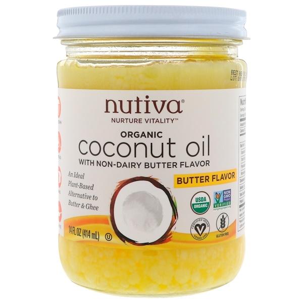 Nutiva オーガニック ココナッツオイル バター風味 1枚目