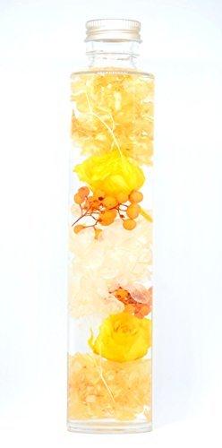 ハーバリウム プリザーブドフラワー オレンジイエローの画像