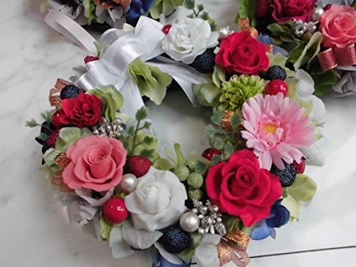 プリザーブドフラワー 永遠に続く幸せ花リースの画像