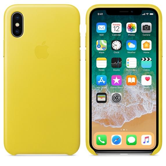 Apple iPhone X レザーケース 1枚目