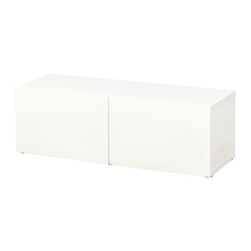 IKEA BESTA シェルフユニット 扉付 ラップヴィーケン ホワイト 2枚目