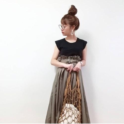 トレンチ風スカートの画像