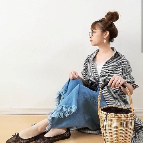 Re:EDIT シャツワンピース 2枚目