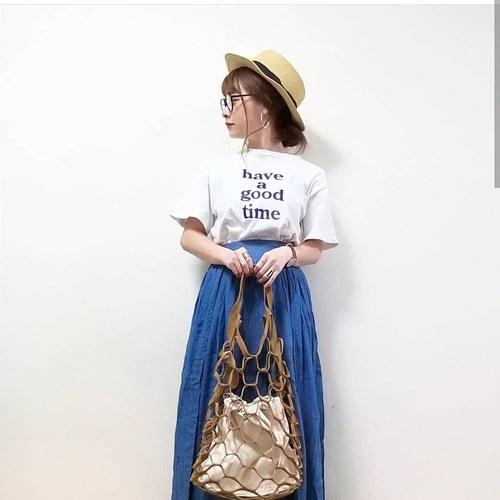 楊柳スラブロングスカートの画像