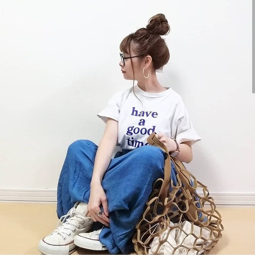 PIERROT 楊柳スラブロングスカート 2枚目