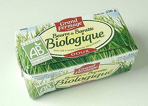 ユーリアル グランフェルマージュ バイオ・グラスフェッドバター 無塩 250g 1枚目