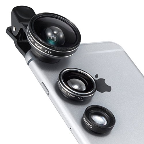 TaoTronics カメラレンズキット クリップ式 スマホレンズ 3点セット 1枚目