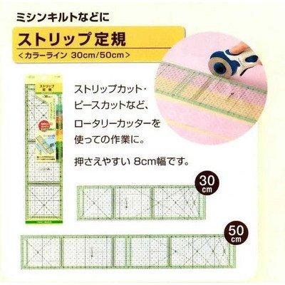 Clover ストリップ定規 カラーライン 30cm 57-928 1枚目