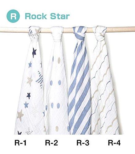 エイデンアンドアネイ おくるみ Rock Star R-4 1枚目