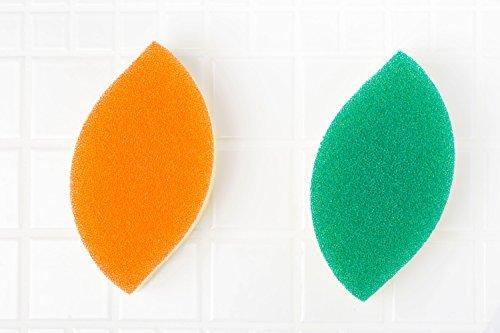 食器洗い スポンジ 木の葉型 3個セットの画像