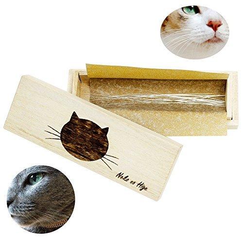 猫専用 桐製猫のひげケースの画像