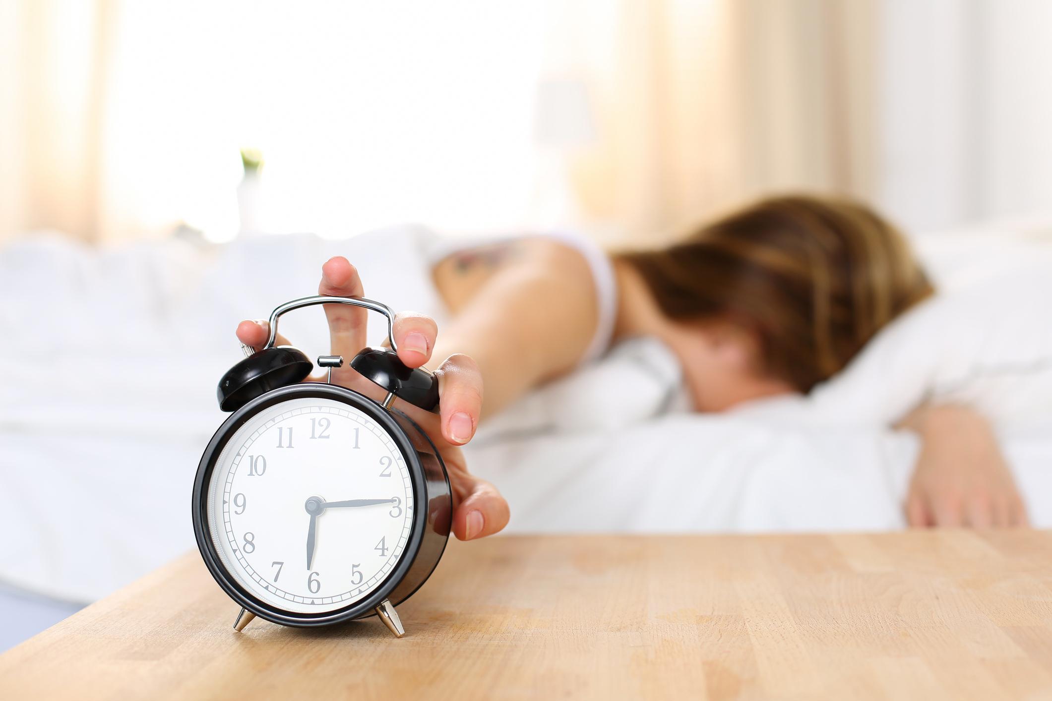 スヌーズ機能で二度寝を防止!