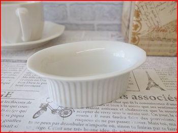 オーバル型ミニココット皿